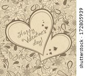 postcard with heart and flowers ... | Shutterstock .eps vector #172805939