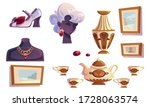 luxury items gold jewelry... | Shutterstock .eps vector #1728063574