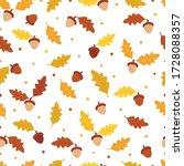 Autumn Pattern With Fallen Oak...