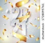 2021 happy new year elegant... | Shutterstock .eps vector #1728095761