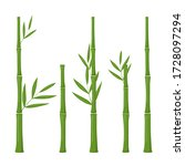 Set Of Vector Bamboo Isolated...