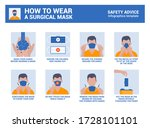 how to wear a surgical mask... | Shutterstock .eps vector #1728101101