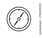 compass icon outline style for...