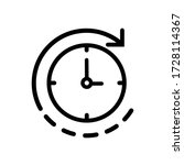 time passing icon  vector... | Shutterstock .eps vector #1728114367