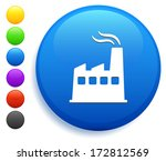factory icon on round button... | Shutterstock .eps vector #172812569