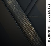 abstract black and gold luxury... | Shutterstock .eps vector #1728133501