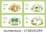 pizzeria web banner or landing...   Shutterstock .eps vector #1728141394
