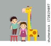 vector illustration cute... | Shutterstock .eps vector #1728154897