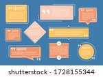 isolated quote box and speech...   Shutterstock .eps vector #1728155344