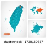 editable template of map of... | Shutterstock .eps vector #1728180937
