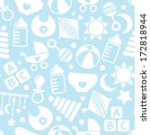 kids blue seamless pattern | Shutterstock .eps vector #172818944