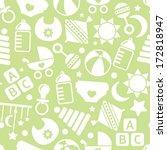kids green seamless pattern | Shutterstock .eps vector #172818947