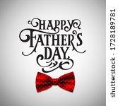happy father s day handwritten... | Shutterstock .eps vector #1728189781