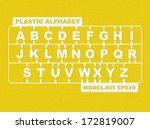 plastic model kit alphabet | Shutterstock .eps vector #172819007