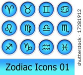 vector detailed icons of zodiac   Shutterstock . vector #17281912