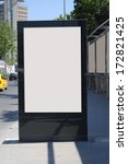 blank billboard and outdoor... | Shutterstock . vector #172821425