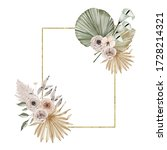 watercolor summer golden... | Shutterstock . vector #1728214321