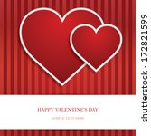 heart valentine's day card | Shutterstock .eps vector #172821599