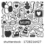 abstract scribble icons hand...   Shutterstock .eps vector #1728216427