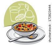 healthy breakfast | Shutterstock .eps vector #172823444