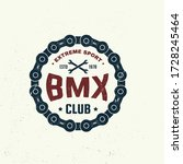 bmx extreme sport club badge  t ... | Shutterstock .eps vector #1728245464