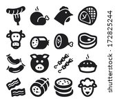 Set Of Black Flat Icons About...