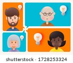cute avatar set share idea in...   Shutterstock .eps vector #1728253324