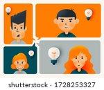 cute avatar set share idea in...   Shutterstock .eps vector #1728253327