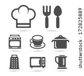 kitchen cooking icons set... | Shutterstock .eps vector #172825889