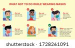 what not to do while wearing... | Shutterstock .eps vector #1728261091