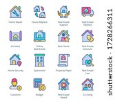 real estate filled line icons   ...   Shutterstock .eps vector #1728266311
