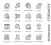 real estate outline icons  ... | Shutterstock .eps vector #1728266314