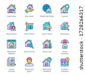 real estate filled line icons   ...   Shutterstock .eps vector #1728266317