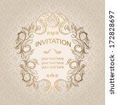elegant vintage frame with... | Shutterstock .eps vector #172828697