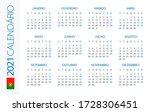 calendar 2021 year horizontal   ...   Shutterstock .eps vector #1728306451