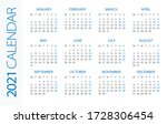 calendar 2021 year horizontal   ...   Shutterstock .eps vector #1728306454