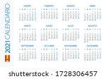 calendar 2021 year horizontal   ...   Shutterstock .eps vector #1728306457
