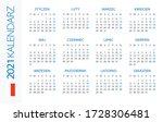calendar 2021 year horizontal   ... | Shutterstock .eps vector #1728306481