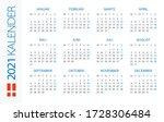 calendar 2021 year horizontal   ...   Shutterstock .eps vector #1728306484