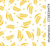 Wheat Seamless Pattern. Vector...