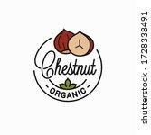Chestnut Nut Logo. Round Linea...