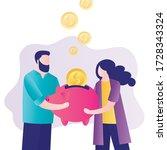 money management concept.... | Shutterstock .eps vector #1728343324
