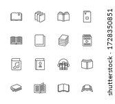 books  bookstore  diary outline ... | Shutterstock .eps vector #1728350851