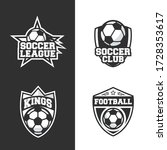 vintage soccer logo. football... | Shutterstock .eps vector #1728353617