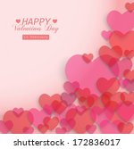 vector transparent hearts with... | Shutterstock .eps vector #172836017