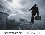 conceptual  businessman... | Shutterstock . vector #172836131