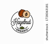 hazelnut vector logo. round...   Shutterstock .eps vector #1728363181