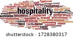 Hospitality Word Cloud Concept. ...
