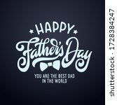 happy fathers day typography... | Shutterstock .eps vector #1728384247