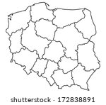 map of poland   this image is a ...   Shutterstock .eps vector #172838891